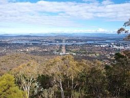 View from Mount Ainslie towards the Parliament House