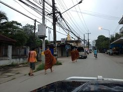 Monks in Mae Sot