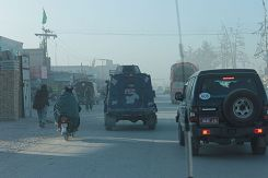 Armoured police car in Quetta