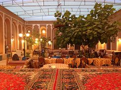 Inner yard of a hotel in Yazd