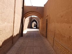 Typical alley in Yazd