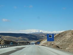 Snow-covered mountains near Tabriz